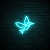 Bird LED blue neon sign wall art for interior