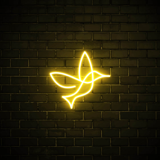 Bird LED yellow neon sign wall art for interior