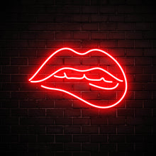 Bite my lips red led neon sign for party