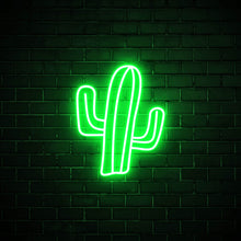 Cactus LED green neon sign wall art for interior