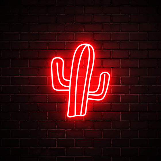 Cactus LED red neon sign wall art for interior