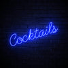 Cocktails LED blue neon sign wall art for party