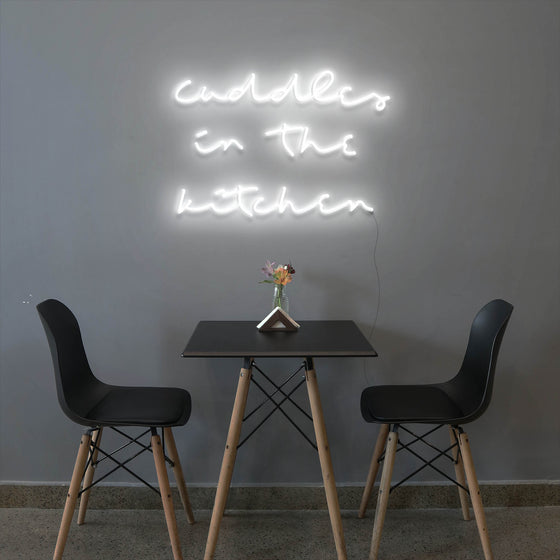 Cuddles in the kitchen - LED neon sign