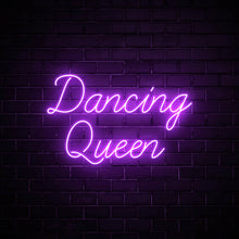 Dancing Queen LED purple neon sign wall art for interior