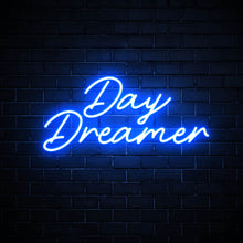 Day Dreamer blue LED neon sign bedroom wall art