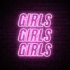 GIRLS GIRLS GIRLS - LED neon sign