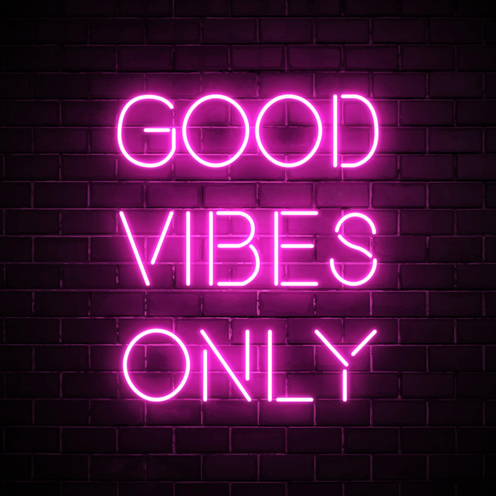 Good Vibes Only LED pink neon sign wall art for interior