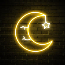 Sleeping Moon - LED neon sign