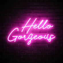 Hello Gorgeous soft pink LED neon sign salon wall art