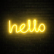 Hello - LED neon sign