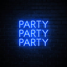 Party Party Party - LED neon sign