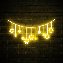 String of Stars - LED neon sign