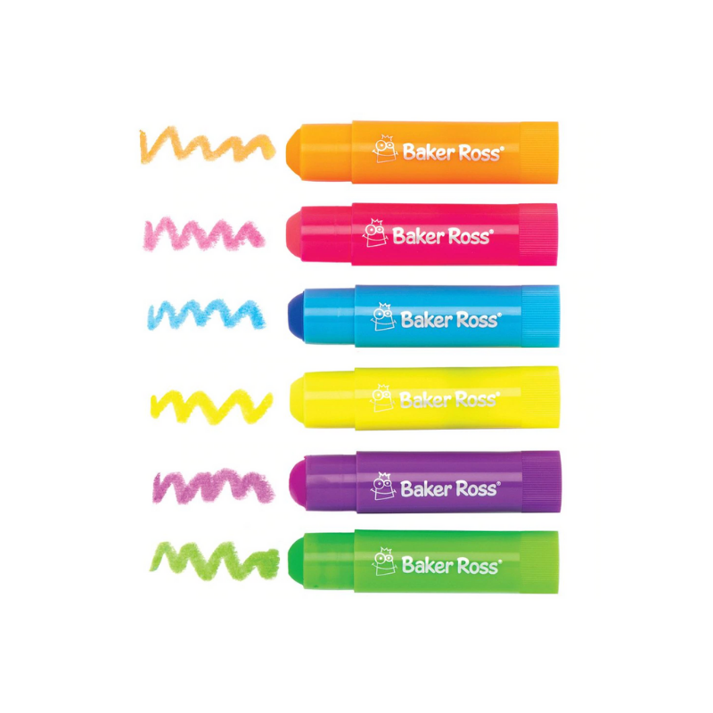 Kid-Eco Neon Paint Sticks - 6 Pack
