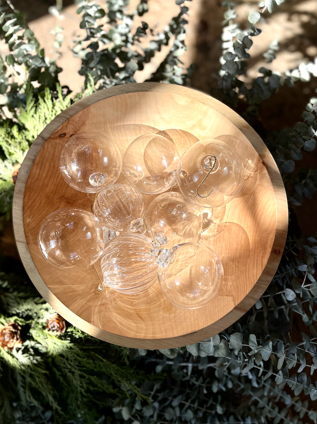 Hand blown glass Christmas ball ornaments