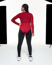 Load image into Gallery viewer, Long Sleeve Bodysuit - Red