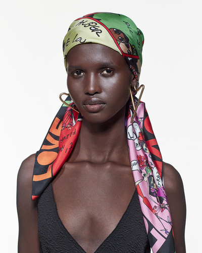 Silk Scarf - « Love From Alber »