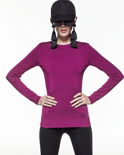 Long Sleeve Prime-layer - Fuchsia