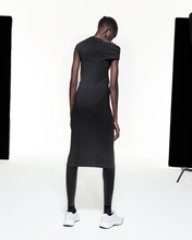 Load image into Gallery viewer, Asymmetric Twist Dress - Black