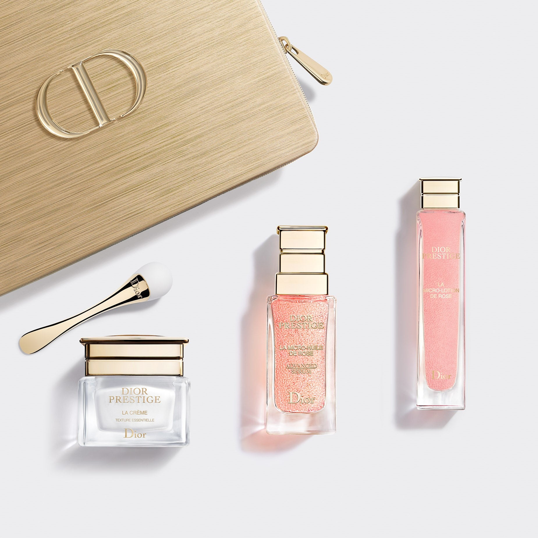 DIOR PRESTIGE ~ Exclusive Skincare Set: Exceptional Micro-Nutritive and Regenerating Ritual - Lotion, Serum and Crème