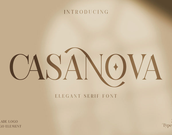 Casanova Typeface (Free Version)