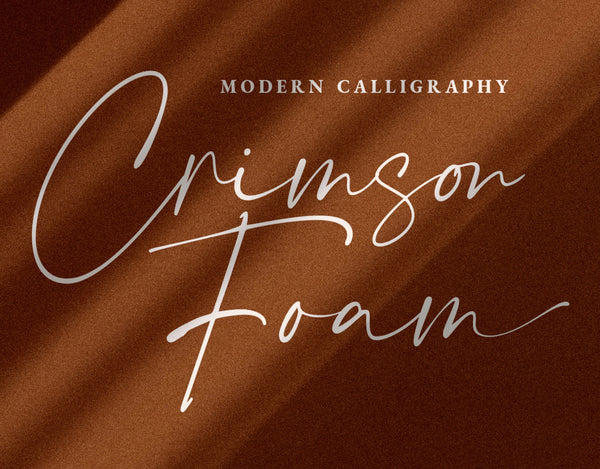 Crimson Foam Typeface (Free Version)