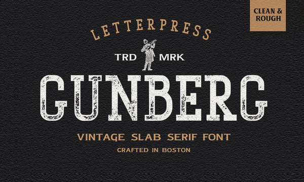 Gunberg Typeface (Free Version)