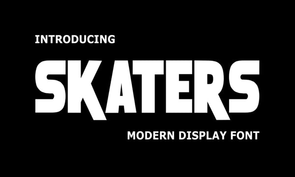 Skaters Typeface (Free Font)