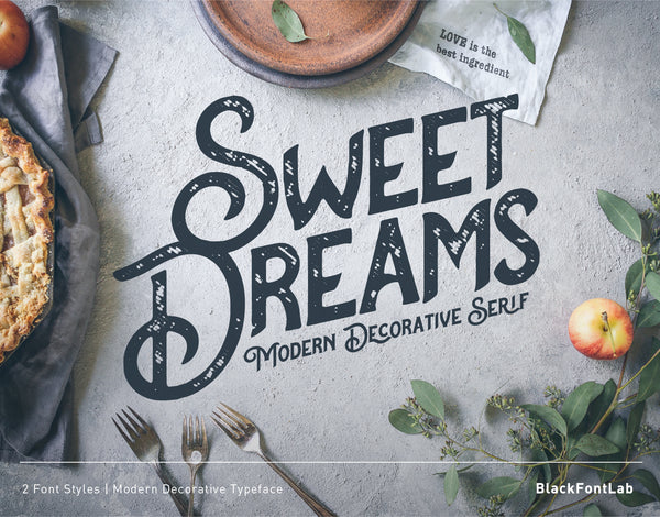 Sweet Dreams Typeface (Free Version)