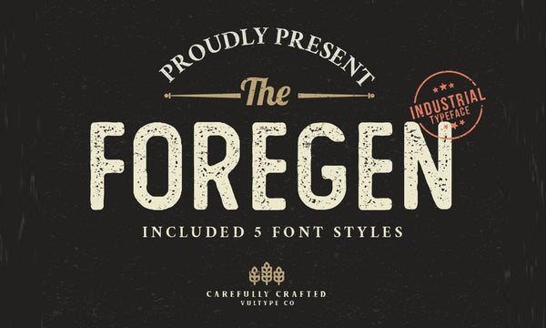 The Foregen Typeface (Free Version)