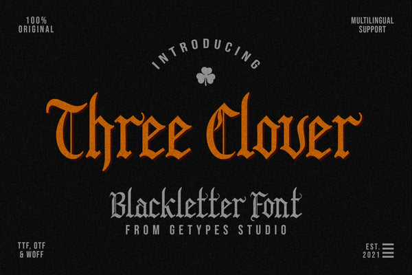 Three Clover Typeface (Free Version)