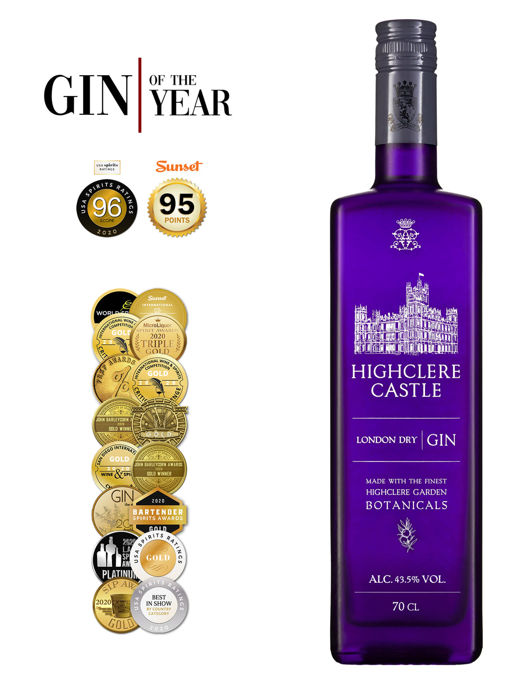 Highclere Castle Gin | 43,5% 700ml