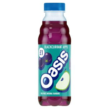 Oasis blackcurrant & apple flavour drink