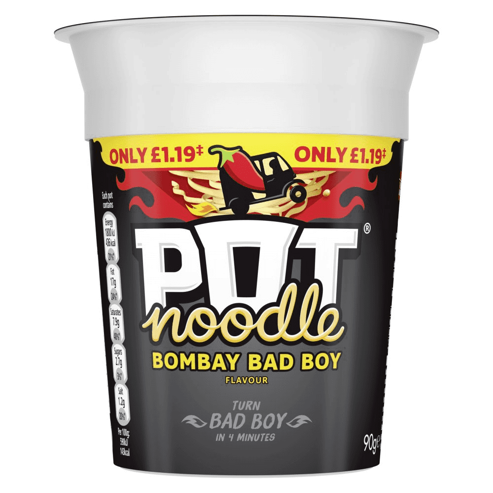 Pot noodle Bombay bad boy flavour.