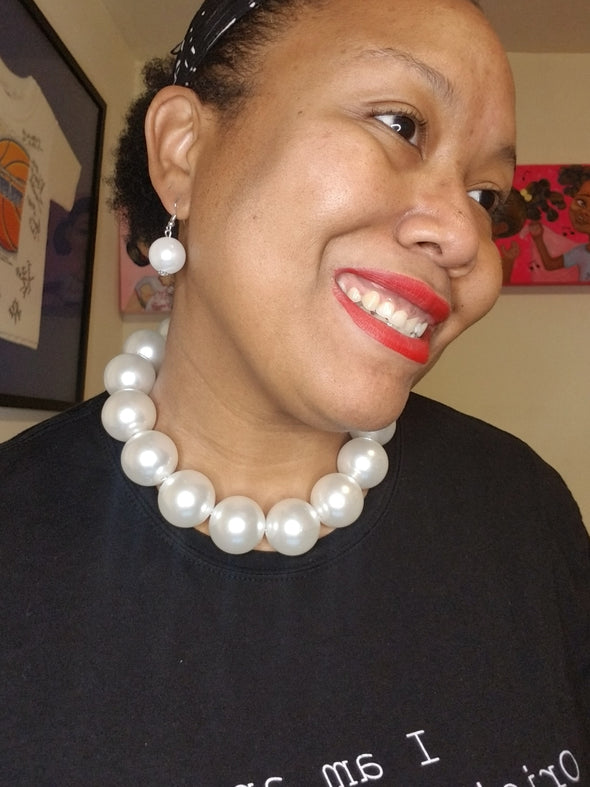 Big Pearl Necklace Set