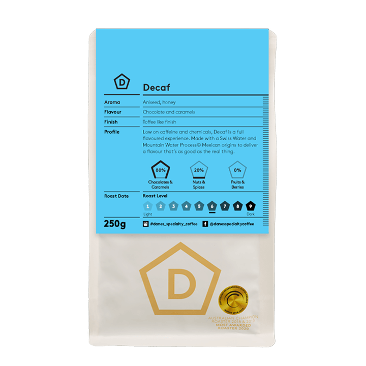 Decaf Swiss Water Process - Danes Specialty Coffee