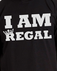 I AM REGAL Mens Black T-Shirt