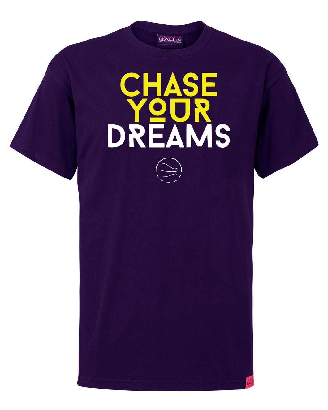 Chase Your Dreams Mens Purple T-Shirt