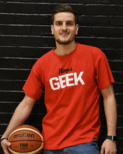 Hoops Geek '88 Mens Red T-Shirt