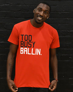 Too Busy Ballin '88 Mens Red T-Shirt