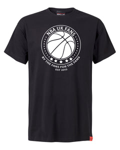 NBA UK Fans Logo Black T-Shirt