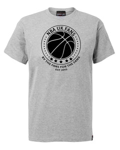 NBA UK Fans Logo Sport Grey T-Shirt