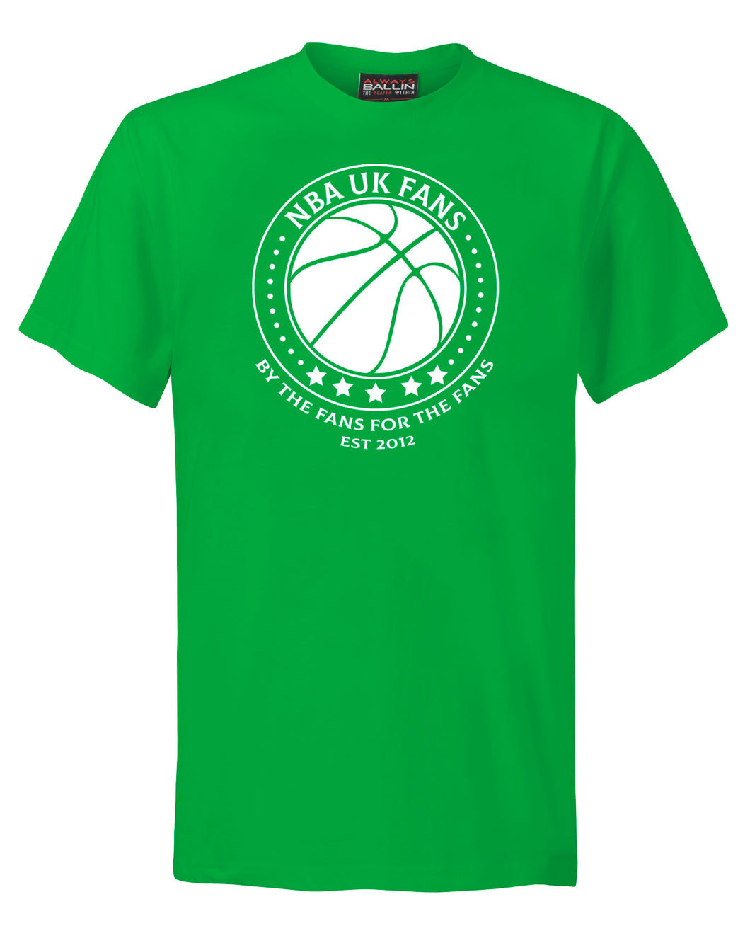 NBA UK Fans Logo Kelly Green T-Shirt