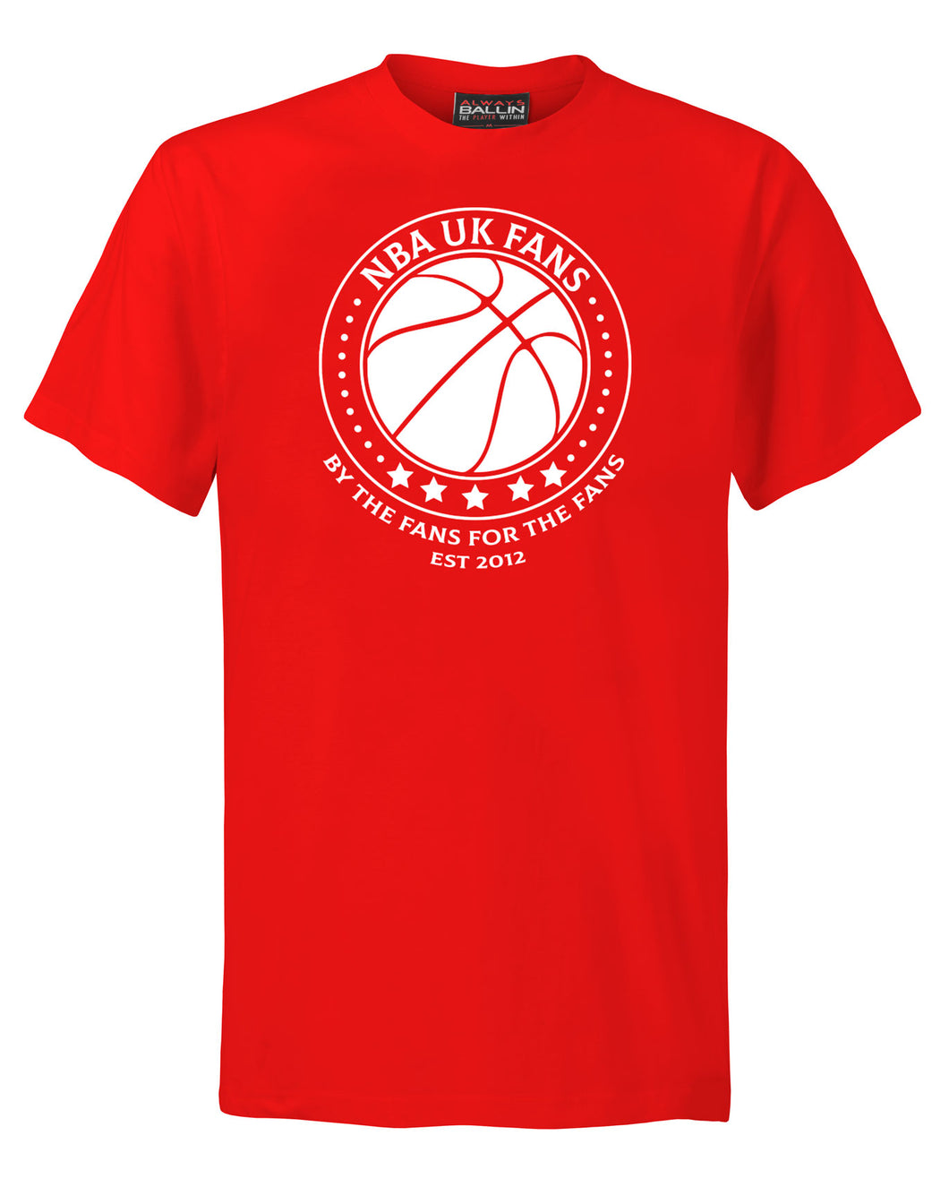 NBA UK Fans Logo Red T-Shirt