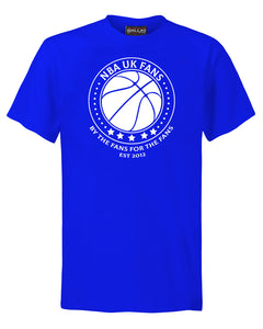 NBA UK Fans Logo Royal Blue T-Shirt