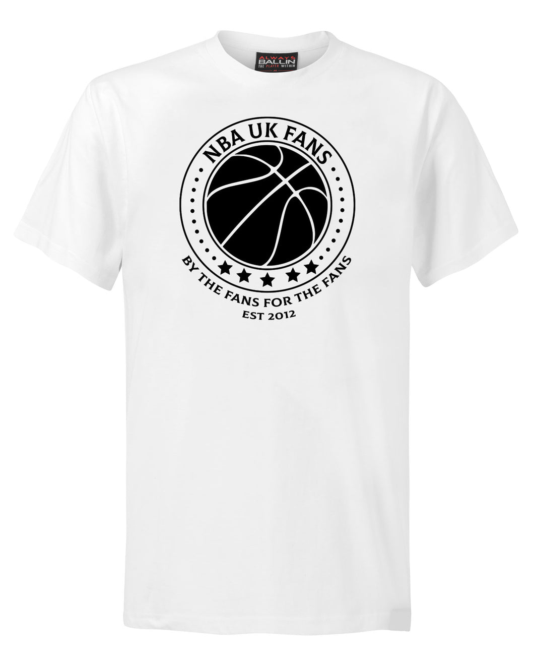 NBA UK Fans Logo White T-Shirt