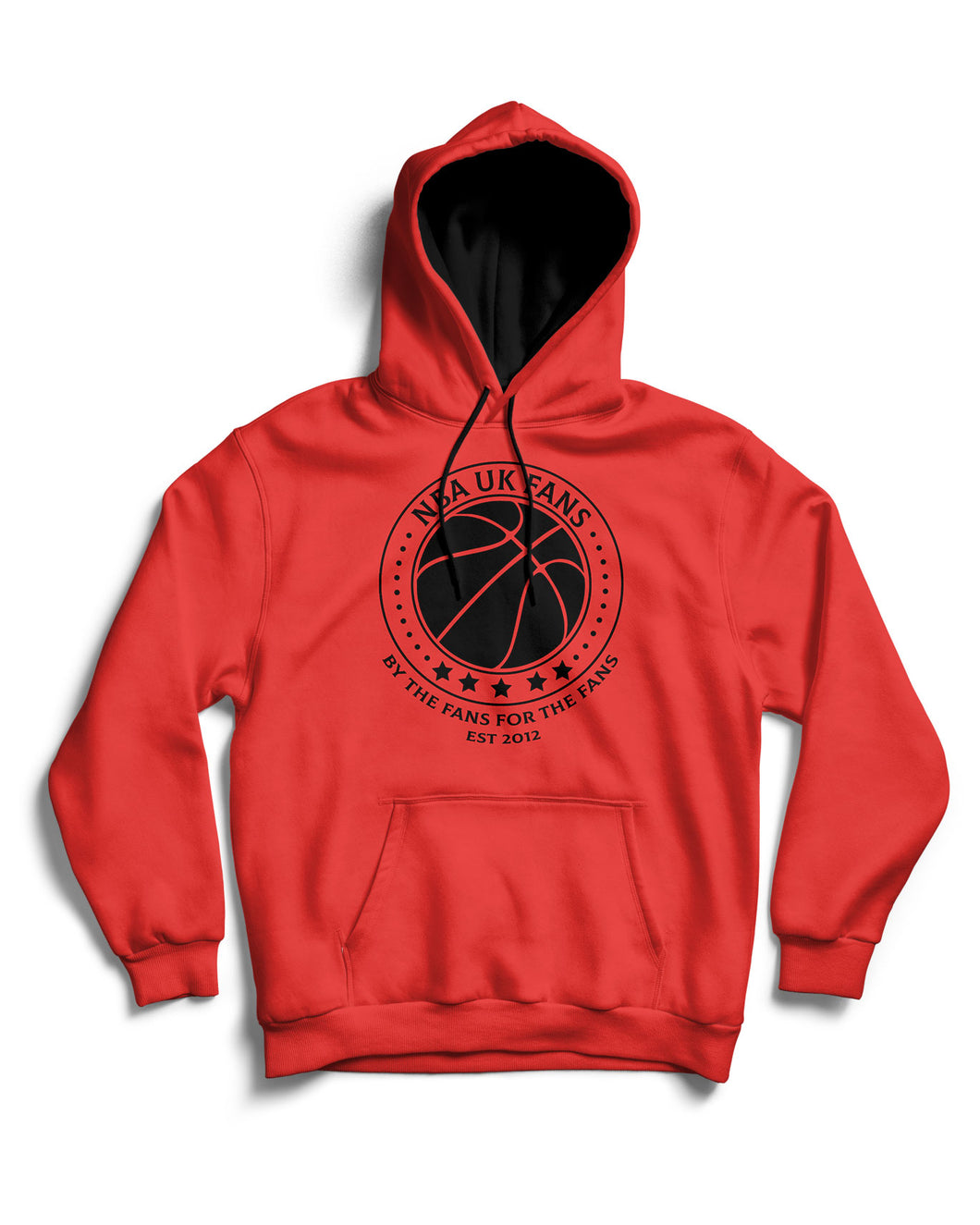 NBA UK Fans Logo Fire Red Pullover Hoodie