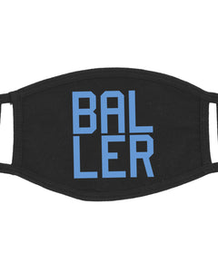 BALLER Adult Face Mask Unisex Black