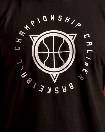 Championship Caliber Basketball Mens Black T-Shirt