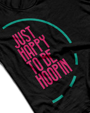 Just Happy To Be Hoopin Black Sleeveless Performance Vest