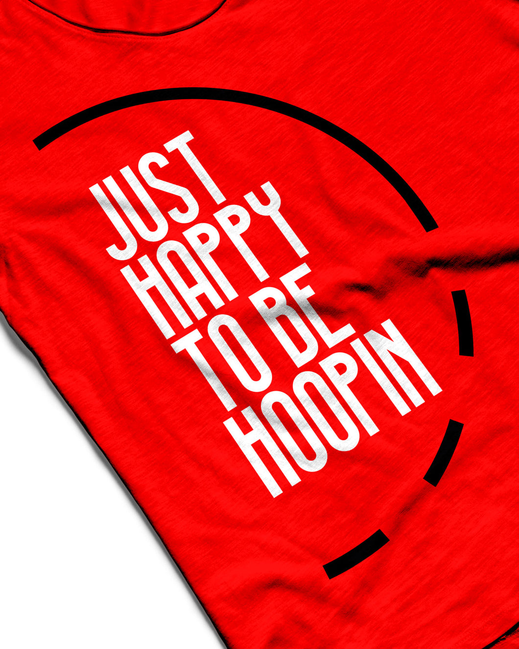 Just Happy To Be Hoopin Fire Red Sleeveless Performance Vest
